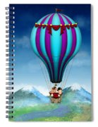 Flying Pig - Balloon - Up Up And Away Spiral Notebook