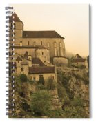 Fog Descending On St Cirq Lapopie In Sepia Spiral Notebook