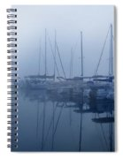 Fog Hides Sun From Sailboats Spiral Notebook