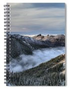 Fog In The Valley Spiral Notebook