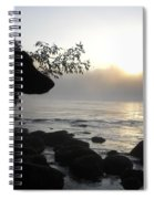 Fog On The Rocks Sunrise Spiral Notebook
