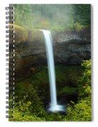 Fog Over The Falls Spiral Notebook