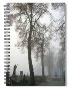 Foggy Cemetery Spiral Notebook