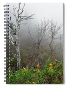 Foggy Day On The Blueridge Spiral Notebook