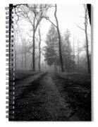 Foggy Lane By The Lake Spiral Notebook