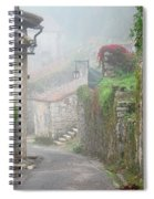 Foggy Lane In St Cirq Spiral Notebook