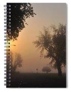 Foggy Morn Street Spiral Notebook