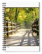 Foggy Morning On Boardwalk Spiral Notebook