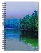 Foggy Mountain Pond Spiral Notebook