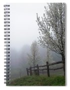 Foggy Trees In The Valley Spiral Notebook