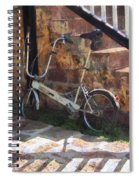 Folding Bicycle Antigua Spiral Notebook