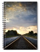 Follow The Tracks Spiral Notebook