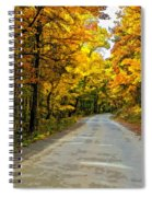 Follow The Yellow Leafed Road Painted Spiral Notebook