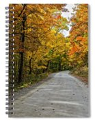 Follow The Yellow Leafed Road Spiral Notebook