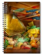 Food - Candy - One Scoop Of Candy Please  Spiral Notebook