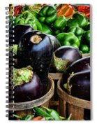 Food - Farm Fresh - Eggplant And Peppers Spiral Notebook