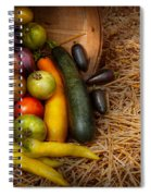 Food - Vegetables - Very Early Harvest Spiral Notebook
