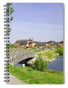 Foot-bridge And Lake - Barton Marina Spiral Notebook