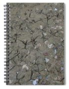 Foot Prints In The Mud Spiral Notebook