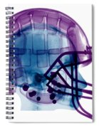 Football Helmet X-ray Spiral Notebook