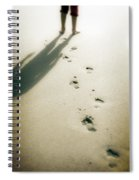 Footsteps Spiral Notebook