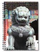 Forbidden City Lion Guardian Spiral Notebook