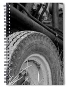 Ford Tractor Details In Black And White Spiral Notebook