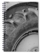 Ford Tractor In Black And White Spiral Notebook