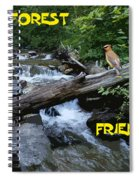 Forest Friends Sharing A Log Over A Creek On Mt Spokane Spiral Notebook