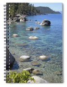 Forested Shores Of Lake Tahoe Spiral Notebook