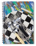 Forks On Checker Plate Spiral Notebook