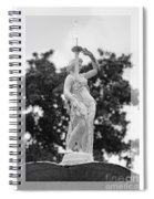 Forsyth Fountain - Black And White 2 Spiral Notebook