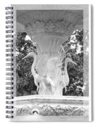 Forsyth Fountain - Black And White 4 Spiral Notebook