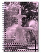 Forsyth Park Fountain In Pink Spiral Notebook