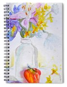 Forsythia And Ghost Daisies Spiral Notebook
