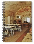 Fort Macon Mess Hall_9078_3765 Spiral Notebook