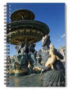 Fountain At Place De La Concorde. Paris. France Spiral Notebook