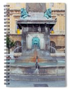 Fountain In Arles France Spiral Notebook