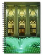 Fountain In Front Of A Government Spiral Notebook