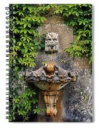 Fountain In The Walled Garden, Florence Spiral Notebook