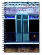 Four Balcony Windows Spiral Notebook