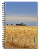 Four Outbuildings In The Field Spiral Notebook