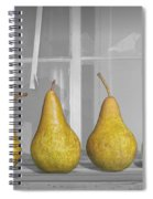 Four Pears On Windowsill Spiral Notebook