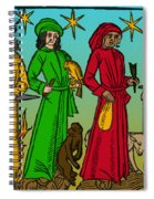 Four Temperaments, Medieval Woodcut Spiral Notebook