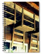 Four Wooden Chairs Spiral Notebook