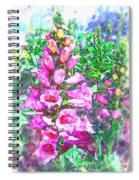 Foxglove Floral Spiral Notebook