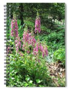 Foxgloves In My Garden Spiral Notebook