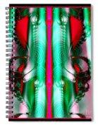Fractal 29 Christmas Ribbons Spiral Notebook