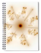Fractal Brown Star Spiral Notebook