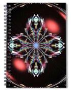 Fractal Illumination Spiral Notebook